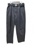 doublet(ダブレット)の古着「SILK DENIM WIDE TROUSER」|ブラック