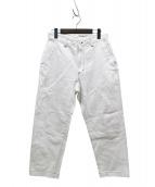 ALLEGE(アレッジ)の古着「デニムパンツ」|ホワイト