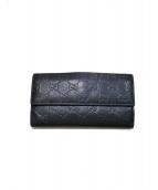 GUCCI(グッチ)の古着「GG柄長財布」|ブラック
