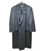 Tibbett(チベット)の古着「カシミヤダブルチェスターコート」|グレー