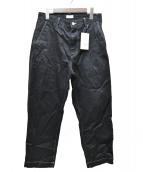 ALLEGE(アレッジ)の古着「ホワイトステッチパンツ」|ブラック