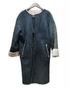 GALERIE VIE(ギャルリーヴィー)の古着「ムートンノーカラーコート」