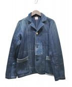 FUNSET OF ART(ファンセットオブアート)の古着「刺し子パッチワークジャケット」