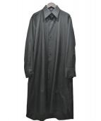 Y's(ワイズ)の古着「シルク100%ロングシャツワンピース」|ブラック