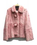 Cynthia Rowley(シンシアローリー)の古着「ラビットファージャケット」|ピンク