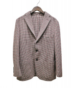 UNITED ARROWS(ユナイテッドアローズ)の古着「千鳥格子柄テーラードジャケット」 ブラウン