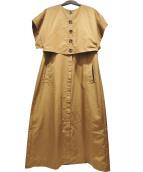 AJAIE ALAIE(アジャイエ アライエ)の古着「MAKING STORIES DRESS」 ブラウン