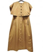 AJAIE ALAIE(アジャイエ アライエ)の古着「MAKING STORIES DRESS」|ブラウン