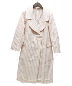 MARNI(マルニ)の古着「ステッチデザインダブルコート」|ベージュ