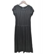 Harrods(ハロッズ)の古着「シルク刺繍ワンピース」 ブラック