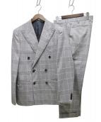 UNITED ARROWS(ユナイテッド アローズ)の古着「グレンチェックダブル6Bコンフォート」|グレー
