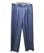 BERNARD ZINS(ベルナールザンス)の古着「タックワイドパンツ」|ネイビー