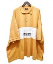 BALENCIAGA(バレンシアガ)の古着「オーバーサイズポロシャツ」|ホワイト×イエロー