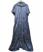 Y's(ワイズ)の古着「刺繍シャツワンピース」 ネイビー