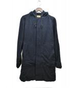 BROWN by 2-tacs(ブラウン バイ ツータックス)の古着「フーディウールコート」|ネイビー