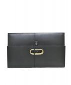 KOLOR(カラー)の古着「フォールドオーバークラッチバッグ」|ブラック