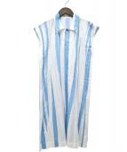 ISSEY MIYAKE(イッセイミヤケ)の古着「ノースリーブシャツワンピース」