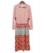 JUNYA WATANABE MAN PINK(ジュンヤワタナベ マン ピンク)の古着「ポロシャツワンピース」|レッド×ホワイト