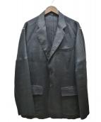 YS for men(ワイズフォーメン)の古着「リネンテーラードジャケット」 ブラック