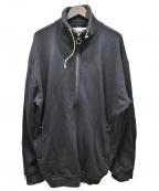 MR.COMPLETELY(ミスターコンプリートリー)の古着「ハーフジップモックスウェット」|ブラック