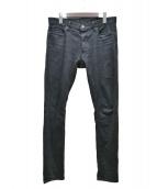 MINEDENIM(マインデニム)の古着「スキニーデニムパンツ」|ブラック
