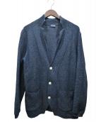 Drumohr(ドゥルモア)の古着「リネン混テーラードジャケット」|ネイビー