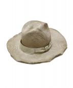 REINHARD PLANK(レナード プランク)の古着「ストローハット」|ベージュ