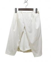 TARO HORIUCHI(タロウ ホリウチ)の古着「ショートスカートパンツ」|ホワイト