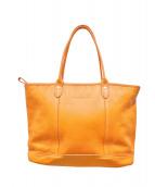 LONGCHAMP(ロンシャン)の古着「レザートートバッグ」 オレンジ