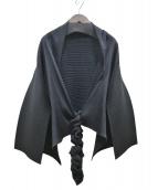 ISSEY MIYAKE FETE(イッセイミヤケフェット)の古着「プリーツトッパーカーディガン」|ブラック