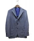Brilla per il gusto(ブリッラ ペル イル グスト)の古着「リネンシルクテーラードジャケット」 ブルー