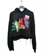 doublet(ダブレット)の古着「HAND-PAINTED HOODIE WITH DEADS」|ブラック