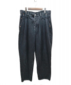 doublet(ダブレット)の古着「SILK DENIM WIDE TAPERED TROUSE」|ブラック