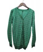 PLEATS PLEASE(プリーツ プリーズ)の古着「プリーツカーディガン」|グリーン