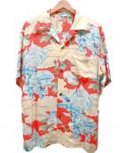 SUN SURF(サンサーフ)の古着「アロハシャツ/KARAJISHI BOTAN」|イエロー