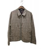 STEVEN ALAN(スティーブンアラン)の古着「CHECK SHORT BLOUSON」|ブラウン