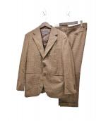 SOVEREIGN(ソブリン)の古着「グレンチェック3ピーススーツ」|ブラウン