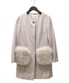 LAISSE PASSE(レッセパッセ)の古着「ノーカラーコート」|ピンク