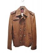 DIESEL(ディーゼル)の古着「ラムレザージャケット」|ブラウン