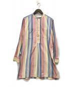 ()の古着「バンドカラーシャツ」 マルチカラー