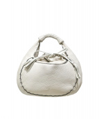 FALORNI(ファロルニ)の古着「ラウンドレザーバッグ」 ホワイト