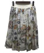 Paul Stuart(ポールスチュアート)の古着「ミディスカート」|ベージュ