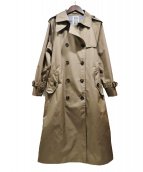 limpermeabile(リンペルメアビレ)の古着「ロングトレンチコート」|ベージュ