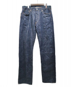 FULLCOUNT(フルカウント)の古着「リジットデニムパンツ」|インディゴ
