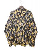 DISCOVERED(ディスカバード)の古着「フランネル総柄シャツ」|ブラック