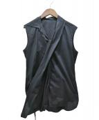 Ys(ワイズ)の古着「ノースリーブシャツ」|ブラック