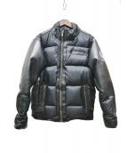 KADOYA(カドヤ)の古着「PU加工ダウンジャケット」|ブラック