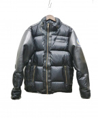 KADOYA(カドヤ)の古着「PU加工ダウンジャケット」 ブラック