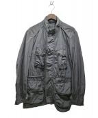 Paul Stuart(ポールスチュアート)の古着「ナイロンミリタリージャケット」|グレー