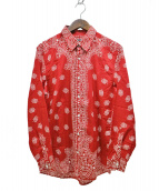 GUCCI(グッチ)の古着「ペイズリーバンダナシャツ」|レッド